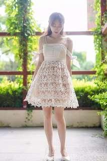 [ NEW ] Angelic elegant ribbon white dress