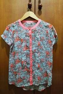 Accent Floral Blouse