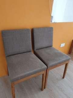 🚚 Ethnicraft B1 Teak Dining Chairs