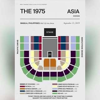 The 1975 Concert Ticket Lower Box B regular