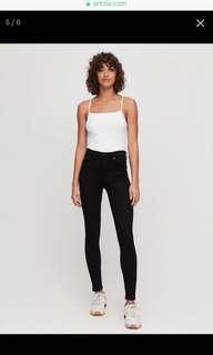 Aritzia Citizens of Humanity Rocket All Black Jeans