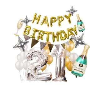 21 birthday party set balloon