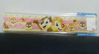 全新 正品 迪士尼Chip n Dale 間尺 15cm