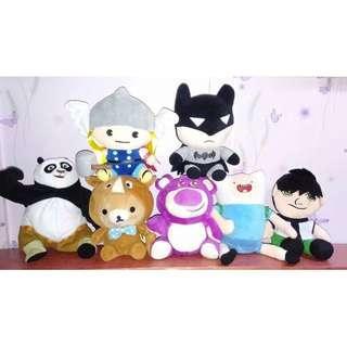 TAKE ALL 7pcs. Assorted Stuffed Toys