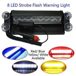 8 LED Strobe Light (Red/Blue/White/Yellow)
