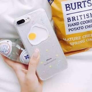 cute egg glitter phone case