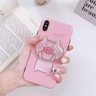 pig squishy liquid phone case