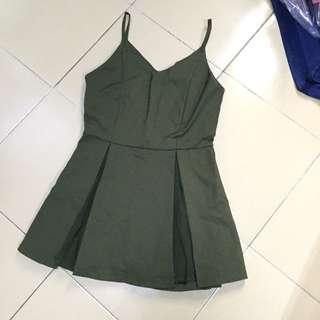 Army green romper/jumpsuit