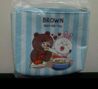 全新 Line Friends Brown & Cony 散銀包 零錢包