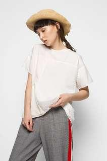NEW cottonink off white birger top blouse atasan wanita