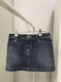 MNG denim mini skirt