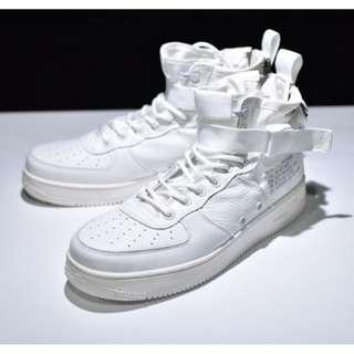 Nike Air Force 1 SF AF1 MID全白色US10.5