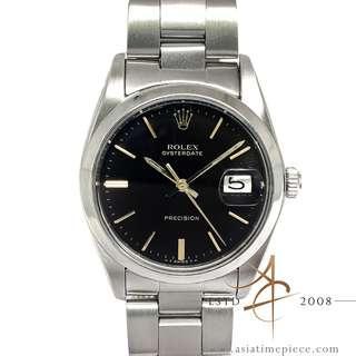 Rolex Precision 6694 Black Dial Vintage Watch (1975)