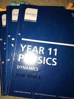 MATRIX Y11 Physics Term2-4