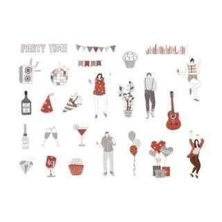 🚚 Elegant [Party Night] Sticker Pack