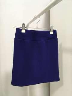Forever 21 bodycon blue Mini Skirt