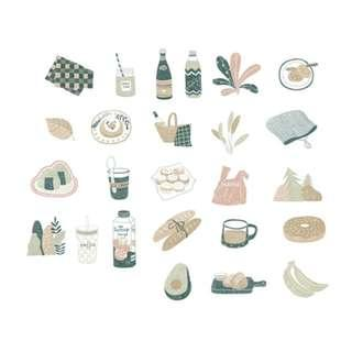 🚚 Elegant [Go On A Picnic] Sticker Pack