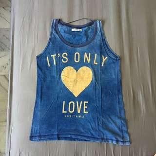 Pull and bear blue tanktop