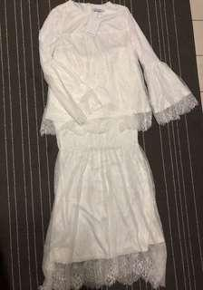 Nwt Lubna Full Lace White Colour