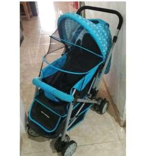 #LalamoveCarousell Crater Baby Stroller +BONUS ++ Mainan&Pampers Sweety NB Silver Comfort