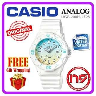 CASIO LRW-200H-2E2V ANALOG LADIES WOMEN WATCHES STANDARD CASUAL WATCH JAM TANGAN ORIGINAL