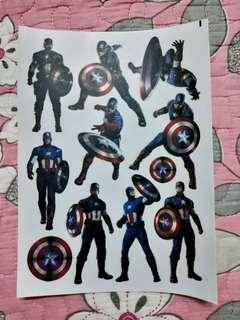 Captain America A5 sticker