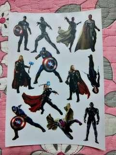 Avengers A5 sticker