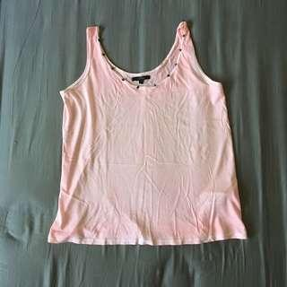 Zara pink washed out tanktop with studs