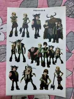 How to Train Your Dragon A5 sticker