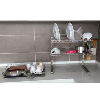Metal Dish Rack (all plates, cutleries, pot and pan included)