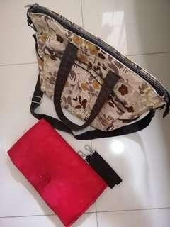 Bellotte Diaper Bag with changing pad and 2 stroller straps