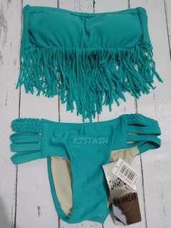 Clearance sale green two piece bikini
