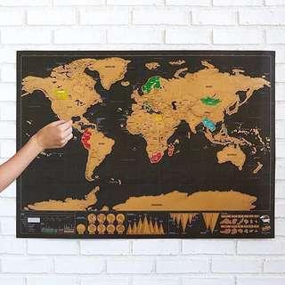 ⚠️特價品🌎征服者地圖 Scratch Map - 給熱愛旅行的你