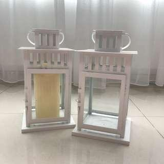 [For Rent] White Lantern with Fake Candles
