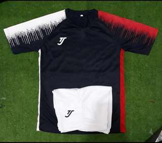 3bc6cf3e86b Custom team soccer jersey - TJ navy red white (free printing)