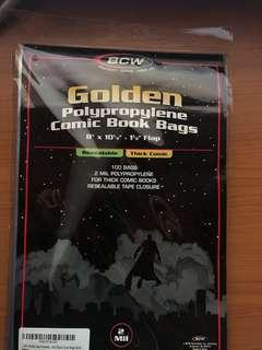 BCW Golden age comic book bags