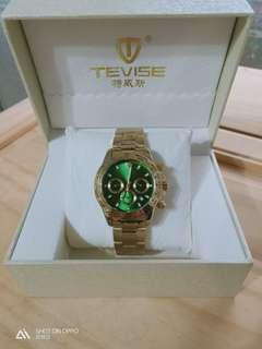 🚚 特威斯  金色鋼帶 機械錶  全新未戴過