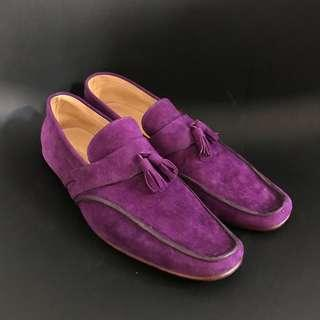Suede Formal Purple Loafers
