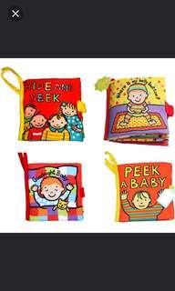 Jollybaby sensory books (5 types available)