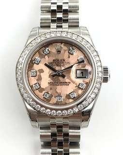 Rolex Datejust Ladies 26 mm Model Ref. M179384-0009 (Pink Gold Crystals with Diamonds) BNIB