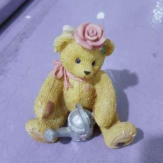 Bear w flower pot decor item