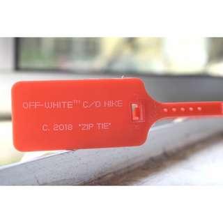 [FREE POS] 1:1 Off-White Red Zip Tie #APR75