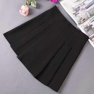 Black Pleated Skorts