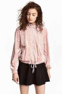 H&M velvet pink jacket