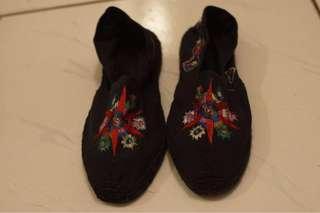 🚚 古著 刺繡布鞋 vintage