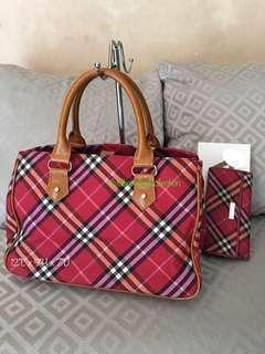 Original Preloved BURBERRY Hand Bag and Wallet Set