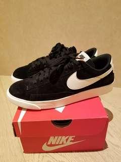Nike women blazer low SD black suede sneakers 波鞋
