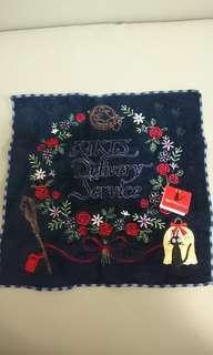 全新 日本魔女宅急便 Kiki's Delivery Service 厚絲絨織花毛巾,非常靚料,未剪牌,約25cm X 25cm