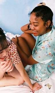 🚚 保留中勿標⚠️ 降價中 水原希子 自創品牌 OK 睡衣 居家服 碎花 薄荷綠 全新