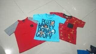 3pcs Kaos Anak 3-4th